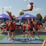 Cheerleader beim Auftritt in Fulda-Münsterfeld