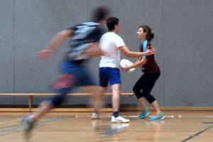 Ultimate Frisbee Abteilung beim Training
