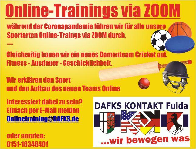 Online-Trainings via ZOOM